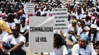 Une manifestation contre le viol, samedi 25 mai 2019, à Dakar