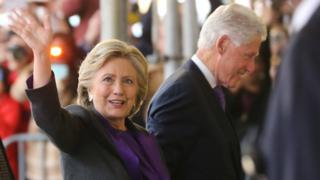 Hillary Clinton con Bill Clinton