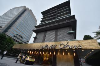 Exterior shot of the Hotel Okura 31 August 2015
