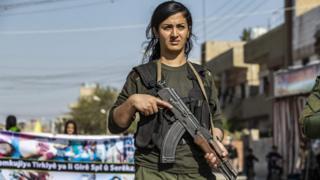 نیروی امنیتی کرد در قامشلو