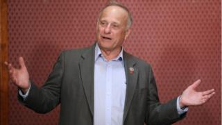 Steve King speaking to supporters