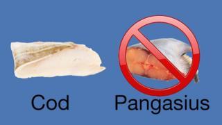 タラ(写真左)として提供されていたのは「パンガシウス」(右)だった