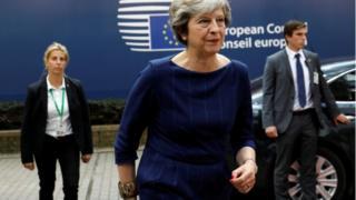 Theresa May at the EU summit