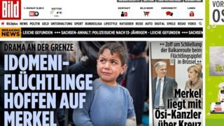 Bild online front page