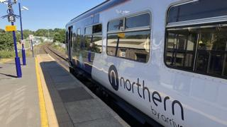 Northern train at Kendal station