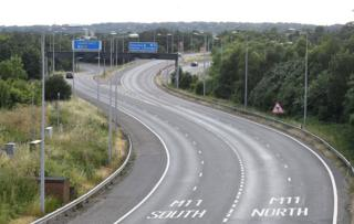 The M25 seen during the England versus Colombia World Cup game