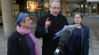 Rabbi Laura Janner-Klausner, Daniel Janner QC and Marion Janner, pictured left to right