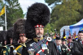 Pipers at the Braemar Gathering