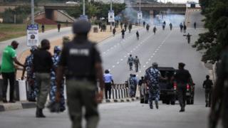 Police for Shia Protest
