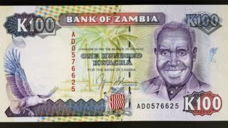 Un billet de 100 kwacha
