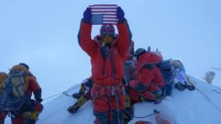 File photo of Lhakpa Sherpa on Everest
