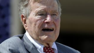 Aliyekuwa rais wa Marekani George HW Bush alazwa hospitalini