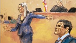 В зале суда, рисунок