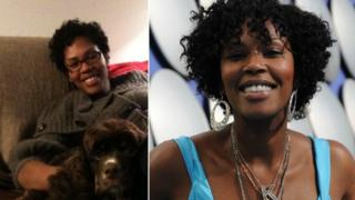 Kadian Pow's hair. From left to right: In 2010 just after she had her relaxed hair cut off, and a few months later