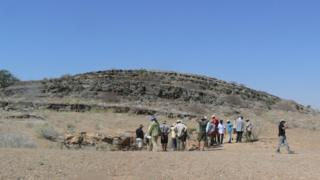 Formações rochosas na Namíbia