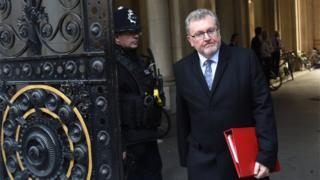 David Mundell arriving for cabinet meeting