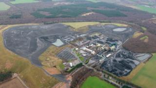 Thoresby Colliery from above