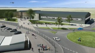 Artist's impression of the Silverstone Heritage Experience