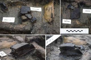 Wooden box at Bronze Age site