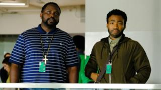 Brian Tyree Henry and Donald Glover in Atlanta