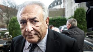 Former IMF chief Dominique Strauss-Kahn arrives at his hotel in Lille, northern France, on February 17, 2015.