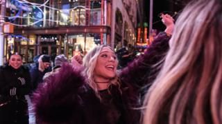 نیویارک کے ٹائم سکوائر پر نئے سال کا جشن