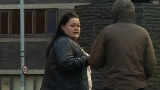 Susan Draper outside court