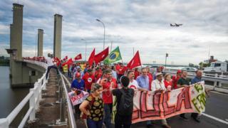 Protesto pró-Lula