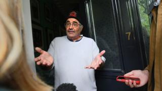 Danny Baker speaking at his London home after he was fired by BBC Radio 5 Live