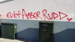 The graffiti daubed across Hastings