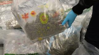 Drugs seized by police