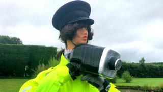 Traffic scarecrow