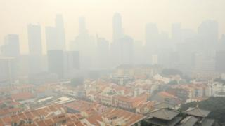 Singapore smoky haze