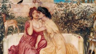 """Nhà phê bình của tạp chí Times đã phàn nàn rằng Icarus khỏa thân trong tranh Daedalus và Icarus của Frederic Leighton trông có vẻ như """"một cô gái hơn là một thanh niên"""""""