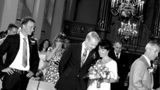 Carla and her husband at their wedding in Utrecht, the Netherlands