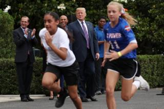 Mrs Trump did not attend a fitness day event at the White House on Wednesday