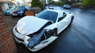 The Ferrari 458 Italia in Cyncoed