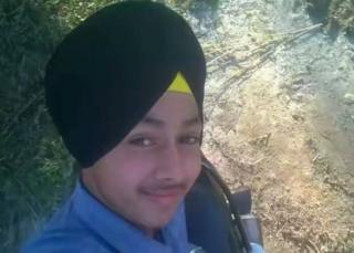 Indian schoolboy Ramandeep Singh