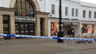 Cheltenham High Street crime scene