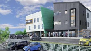An artist's impression of Cardigan's new integrated care centre