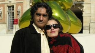 """کاته وفاداری، خواهر آقای وفاداری (چپ)، پیشتر در نامهای خطاب به رهبر ایران گفته بود که خانواده آنها با """"پاپوش دوزی برای اخاذی مالی، تصرف اموال، و تهدیدات امنیتی"""" رو به رو هستند"""