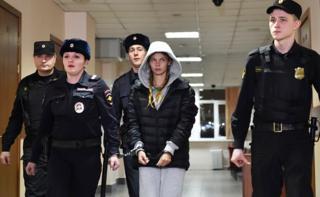 Настя Рыбка в суде в Москве