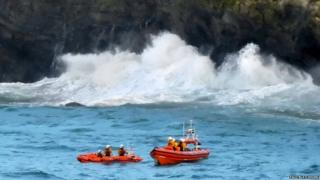 Rescue off Newquay, August 2016