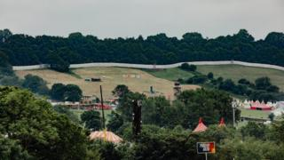 The security being built around Glastonbury