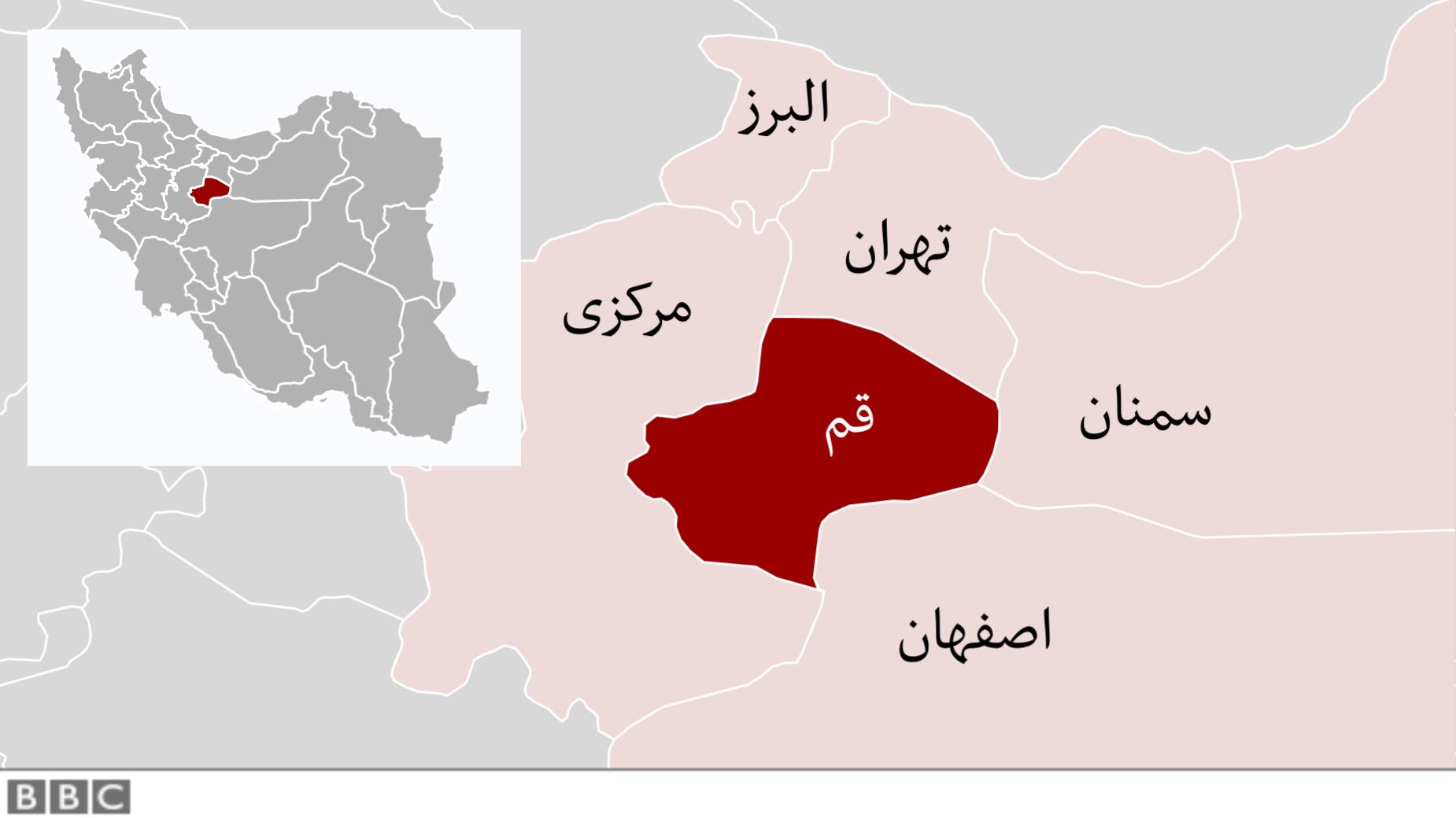 نقشه قم