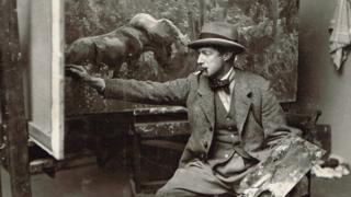 Alfred Munnings, Swainsthorpe Studio, c1910