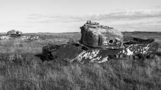 Hulks of old tanks