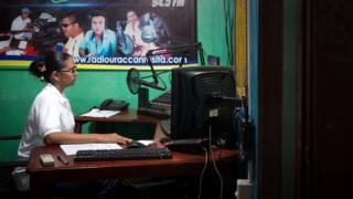 Miuriel en Radio Uraccan