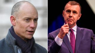 Stephen Kinnock (left) and Adam Price