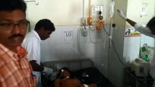 Injured Anwar Ali in hospital